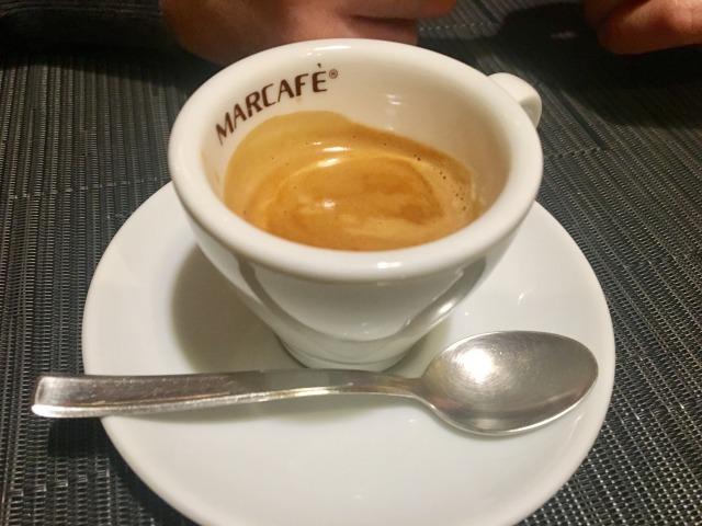 ローマにある「竹寿司」のエスプレッソコーヒー