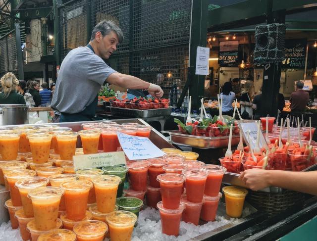 ロンドン バラ・マーケットのジュース