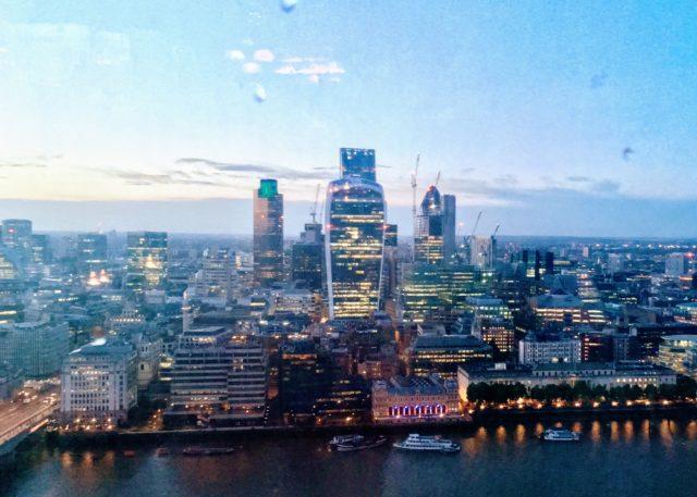 ザ・シャードから見たロンドンシティ