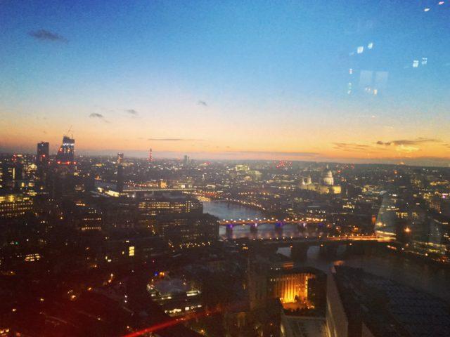 ザ・シャードからのロンドンの眺め