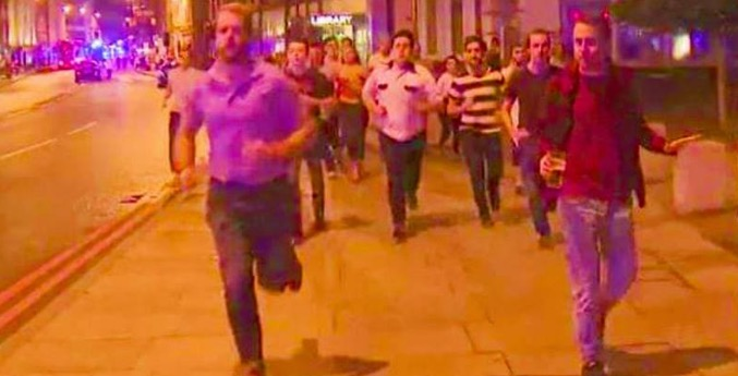 Man Holding Pint As He Flees Terror Attack Becomes Symbol Of London Resistance