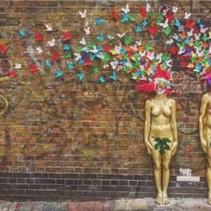 ロンドンの壁アート
