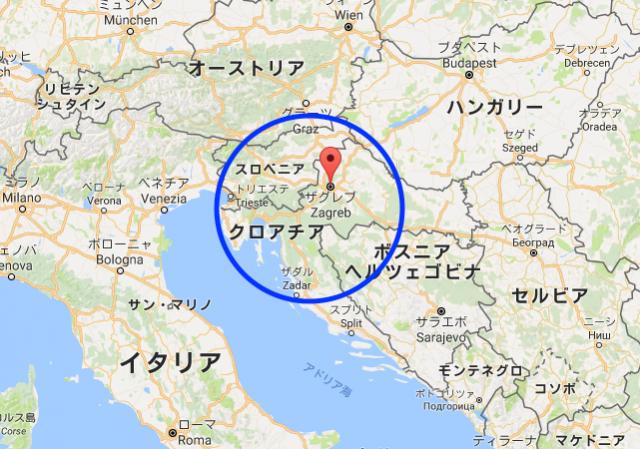 クロアチアの北側に位置しているザグレブ
