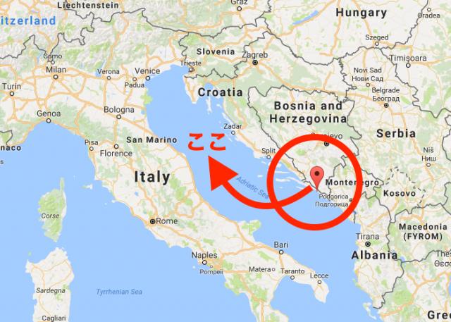 ドブロブニクの位置・地図