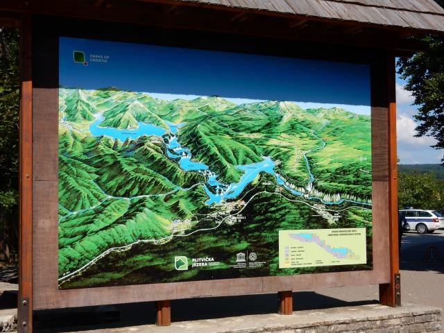 プリトヴィツェ湖群国立公園の全体図