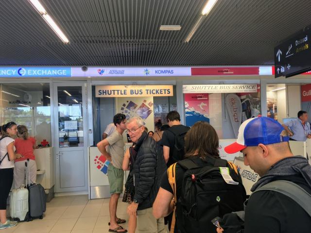 ドブロブニク空港内にあるチケットカウンター