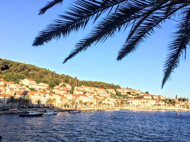 コルチュラ島旧市街からの景色