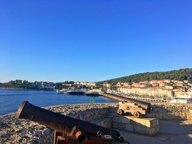 コルチュラ島旧市街周辺の