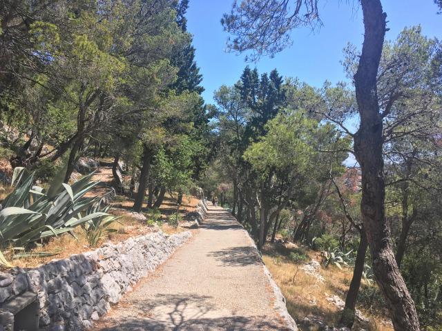 フヴァル城塞まで続く道