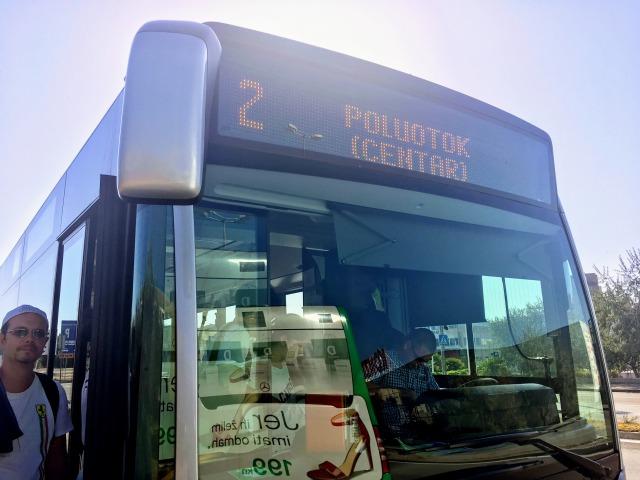 ザダルメインバスターミナルから旧市街へバス