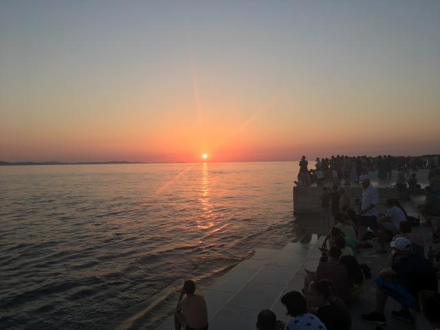 ザダルの夕日