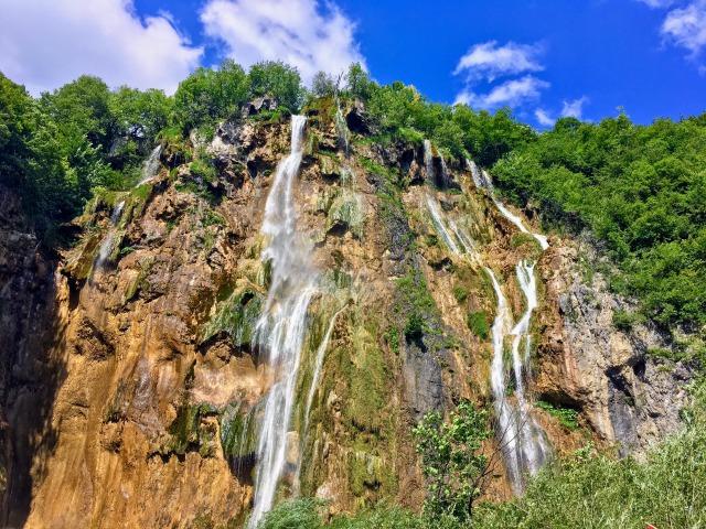 最も規模の大きいプリトヴィツェ滝