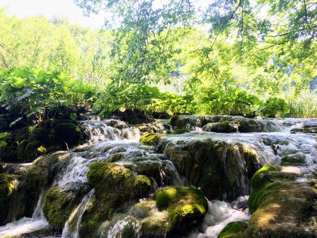 ミルカ・トルニナ滝近辺の光景