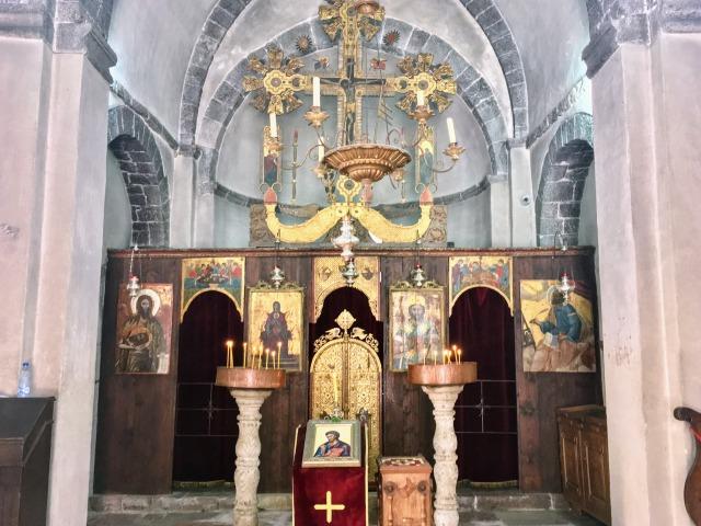聖ルカ教会の内部の様子。現在は正教会式になっている