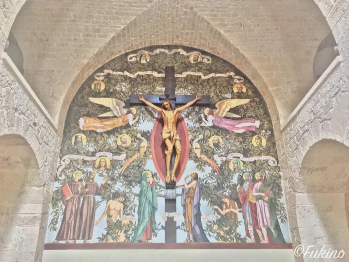 サンタ・アントニオ教会のフレスコ画
