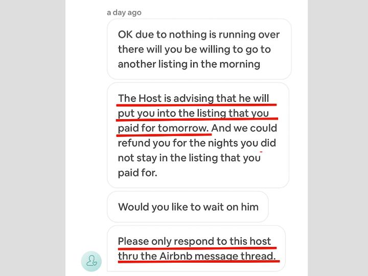 Airbnbサポートとのやりとり3