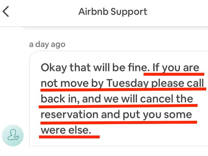 Airbnbサポートとのやりとり4