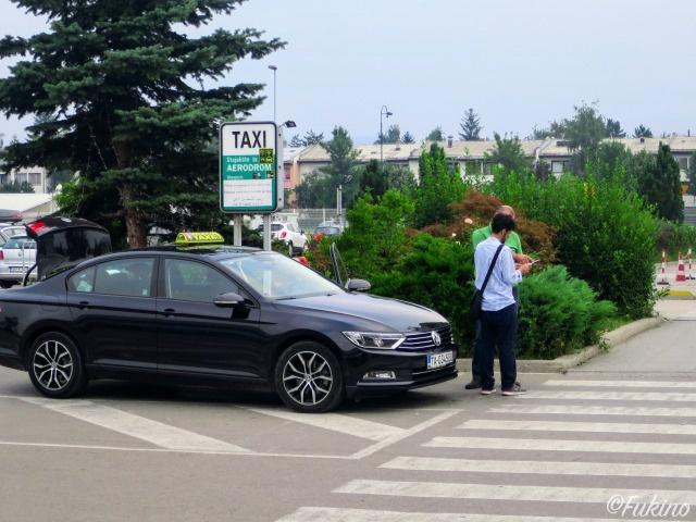 サラエボ国際空港タクシー乗り場