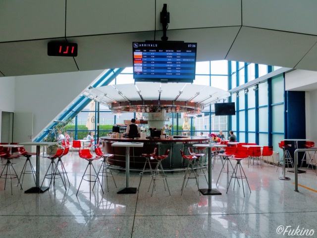 サラエボ国際空港1Fカフェ