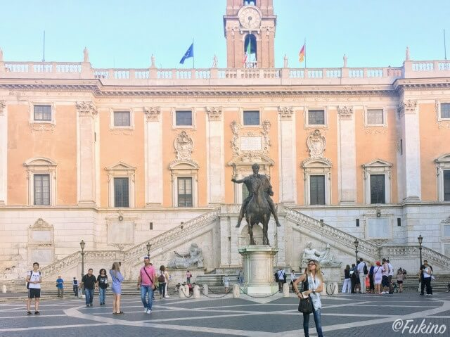 ローマの休日ロケ地巡り:カンピドーリオ広場