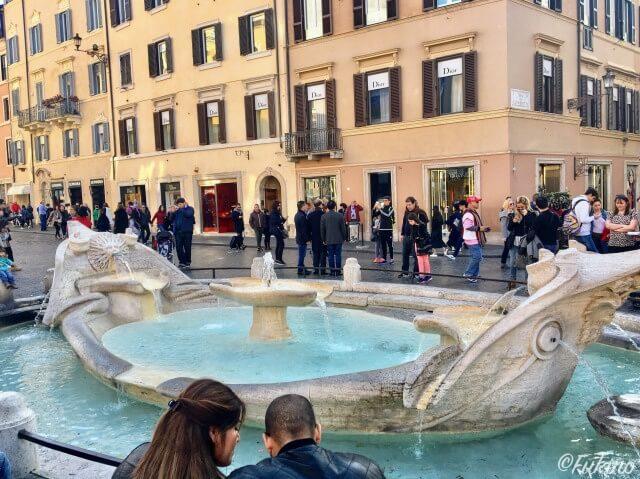 ローマの休日ロケ地巡り:スペイン広場