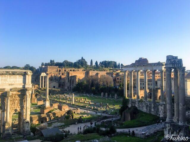 ローマの休日ロケ地巡り:フォロ・ロマーノ