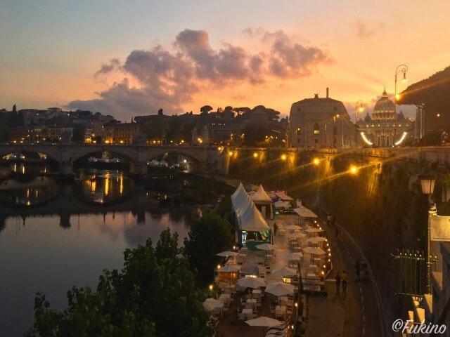 ローマの休日ロケ地巡り:テヴェレ川