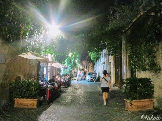 ローマの休日ロケ地巡り:マルグッタ通り