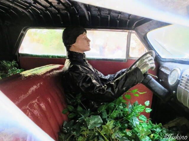 車の中をのぞくとドライバーが座っている